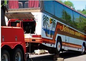 Эвакуация большого автобуса